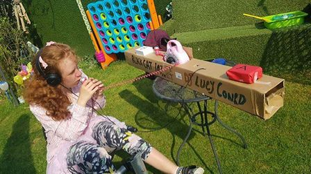 Lucy Conrad from Little Paxton St Neots has created her own radio station PICTURE: Chris Conrad