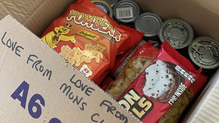 Residents of Mons Close in Harpenden have been receiving care packages from 'Elves' since the corona