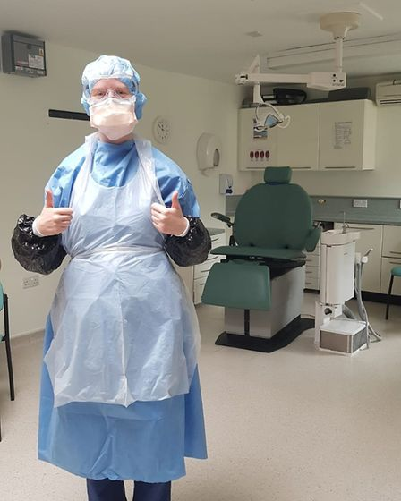 Elise Morgan, an NHS dentist from St Albans who is working with COVID-19 patients. Picture: Supplied