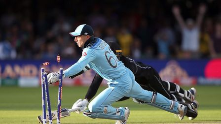 Q23. Which New Zealand batsmen was run out by Jos Buttler to clinch Englands 2019 World Cup final wi