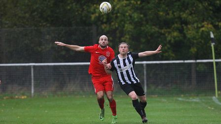 Colney Heath V Stowmarket Town - Danny Fitzgerald in action for Colney Heath. Picture - Karyn H