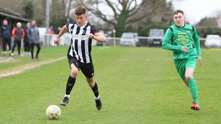 Colney Heath V Tring Athletic - Jack Woods in action for Colney Heath. Picture: Karyn Haddon