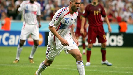 Q29. In which year did Zinedine Zidane retire from his playing career? Picture: NICK POTTS/PA