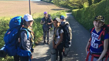 St Albans Scouts - pictured before social distancing measures - are collating the kilometres walked