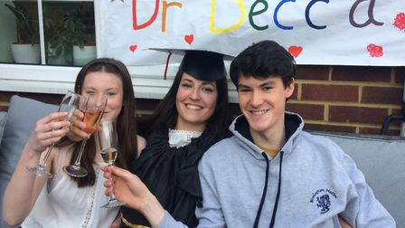 Graduation by Zoom didn't feel quite the same as the real thing for St Albans medical graduate Rebec