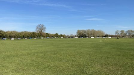 Eaton Socon Cricket Club remains closed for now, but work continues on their ground (pic ESCC)