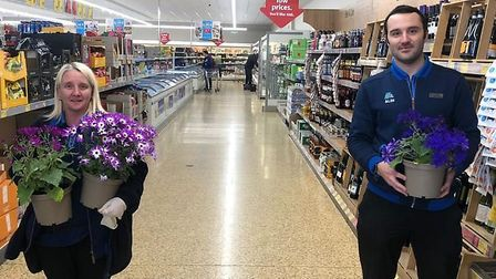 Cambridgeshire police have been delivering flowers to shops and pharmacies to thank them for their h