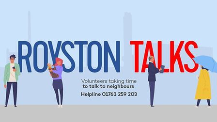 Royston Talks is a new initiative where volunteers chat over the phone with residents who are experi
