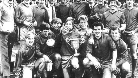 Five Acres' first team and reserves met in the final of the 1982 Herts Ad Sunday League Challenge Cu