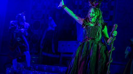 Rita Simons as Carabosse in St Albans pantomime Sleeping Beauty at The Alban Arena. Picture: Pamela