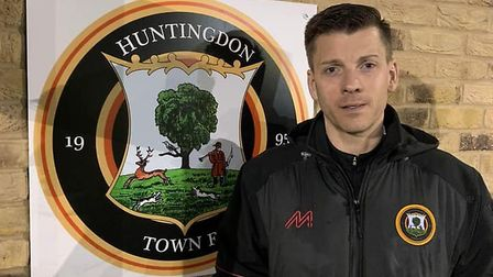 Laurence Revell has been confirmed as Huntingdon Town's manager for the new season (pic Huntingdon T
