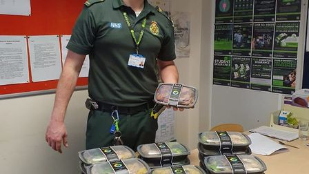 St Albans HIIT Kitchen have given meals to the ambulance service staff to help them. Picture: Suppli