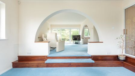 There are steps from the family room to the sitting room. Picture: John Curtis