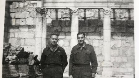 Reg Millns with his brother in Alexandria Egypt in 1942 during WW2 PICTURE: Reg