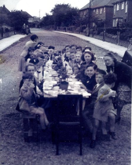 VE Day party in Longacres, St Albans