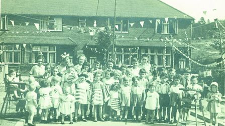A VE Day party at an unknown location in St Albans.