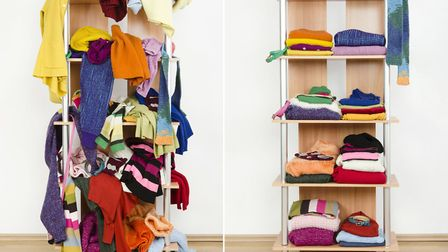 A tidy space may be easier to live with. Picture: iStock/PA