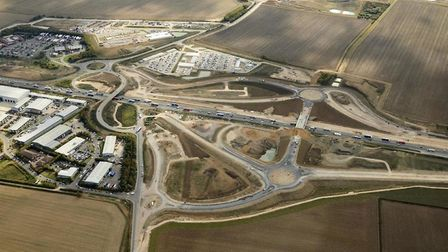 Aerial shot of the A14 PICTUR