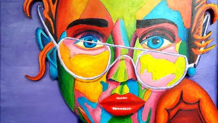 Richard Clayton's picture 'Girl With Broken Glasses' for the Royston Arts Society's online exhibitio