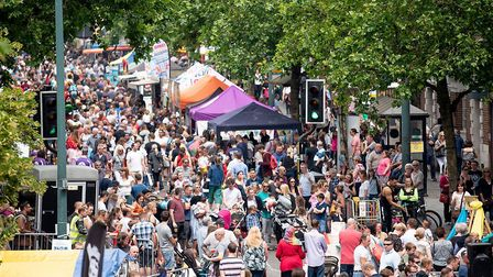 A previous year's Street Festival in St Albans.