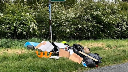 Fly-tipping found on Hamerton Road in Alconbury Weston PICTURE: G