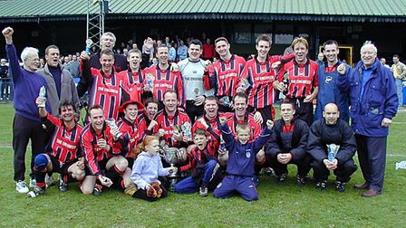 Harpenden Rovers won the Bingham Cox Cup in season 2001-20002. Picture: BRIAN HUBBALL
