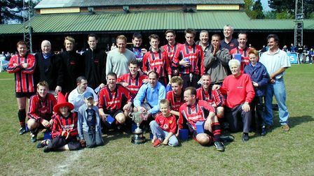 Harpenden Rovers retained the Bingham-Cox Cup in 2002-2003. Picture: BRIAN HUBBALL