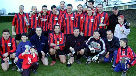 Harpenden Rovers Reserves won the Benevolent Cup in 2001-2002. Picture: BRIAN HUBBALL