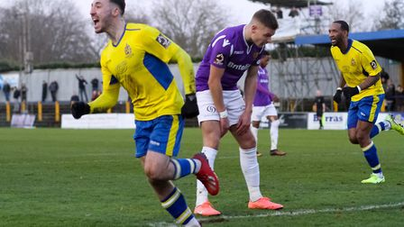 Joe Iaciofano in action for St Albans City during their 1-0 win over Maidstone United. Picture: JIM