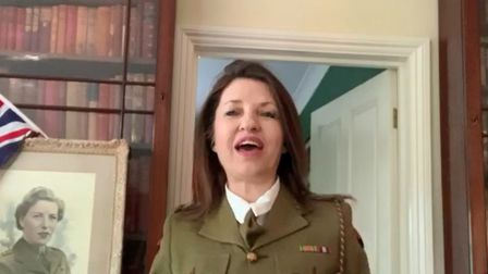 County councillor Annie Brewster features in the Herts Ad VE Day singalong.