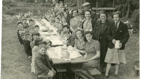 This photo sent in by Doreen Johnson shows VE Day celebrations in Abbotsley.