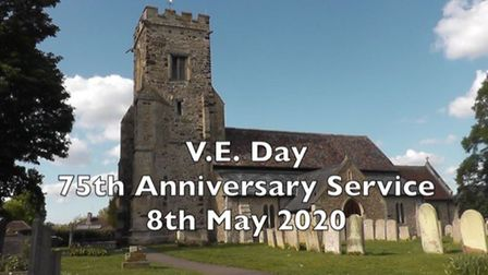 A special service has been recorded at St James Churchyard, in Little Paxton, and can now be viewed