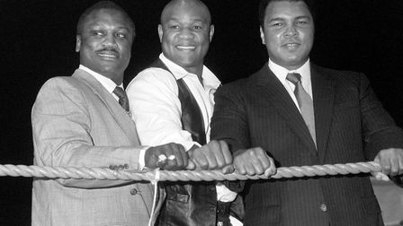 Q7. What age was George Foreman (middle) when he became the oldest heavyweight boxing champion in hi