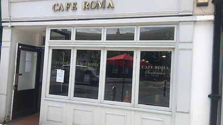Caf Roma in St Peter's Street, St Albans