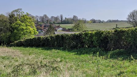The current view of the Gladman proprosed development site in Royston from Therfiled Heath. Picture: