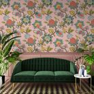 Doris Plaster Pink Wallpaper, from a selection, Woodchip and Magnolia. Picture: PA Photo/Woodchip an