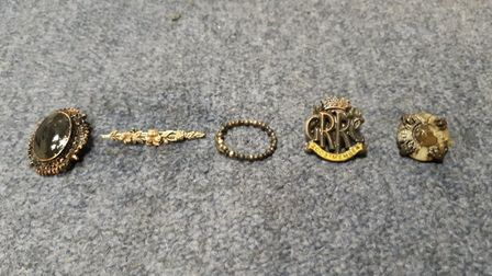 Jewellery and a bag were fished out of a river in Earith which could be related to a burglary. Pictu