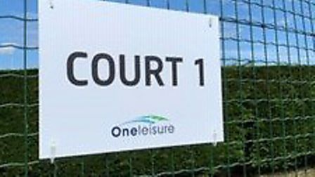 Two of the tennis courts at One Leisure in St Ives are now open