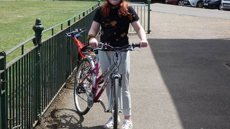 Florence Tatlock cycled 26 times around Clarence Park in aid of St Albans Food Bank.