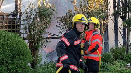 Firefighters in Warboys