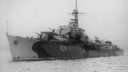 HMS Verulam, which fought the final naval battle of WWII on May 15-16 1945.
