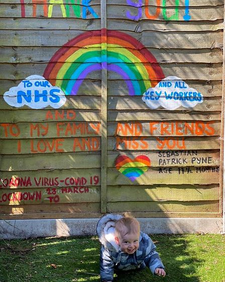 An NHS thank you painted on a fence in St Albans. Picture: Lyn Bolton