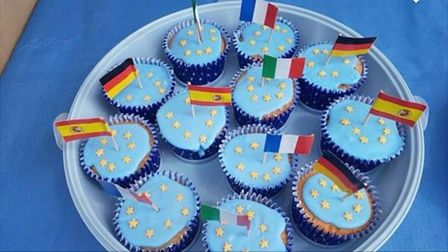 St Albans for Europe members celebrate Europe Day 2020.