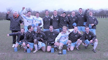 Colney Heath Queens Head Reserves won the Reserves Cup and Division Five of the Herts Ad Sunday Leag