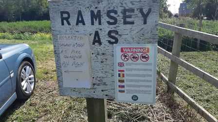 Illegal anglers steal fish in Ramsey. Picture: CAMBS POLICE