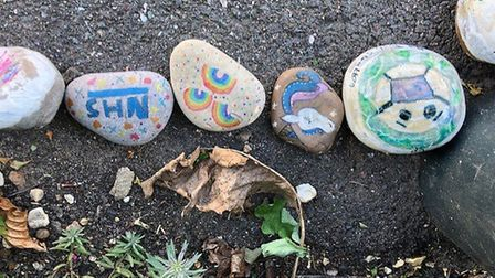 Pebble snakes are springing up in St Neots