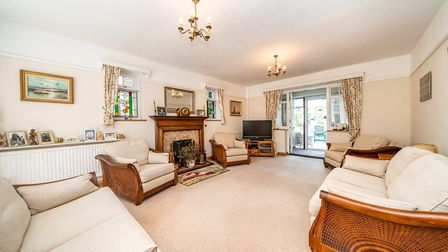 The 23ft living room leads through to an office space. Picture: Bradford & Howley