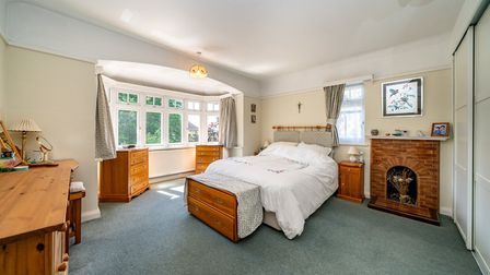 One of the property's five double bedrooms. Picture: Bradford & Howley