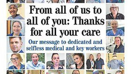The Hunts Post paid tribute to NHS and frontline workers
