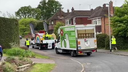 Emmaus Hertfordshire's van supporting the Round Table's collection of food for St Albans and Distric